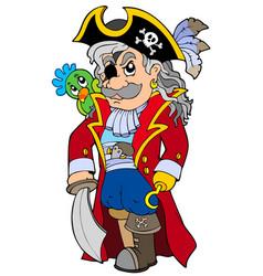 cartoon noble corsair vector image