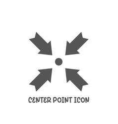 center point icon simple flat style vector image