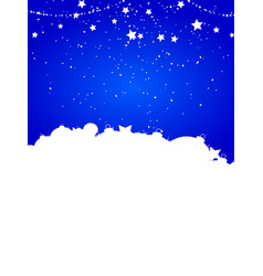 christmas festive winter blue background vector image