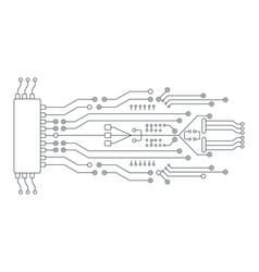 Circuit board line concept accessories for vector