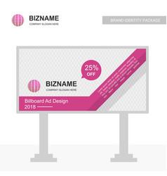 Compnay bill board design with world logo vector