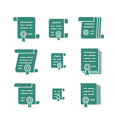 contract solid icons vector image