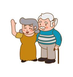 couple elder adults gesture vector image