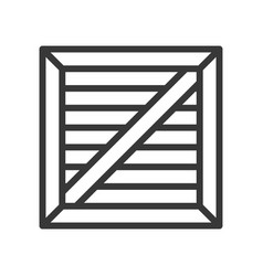 Crate box shipping and logistic icon outline vector