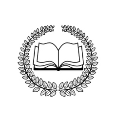 Crown of leaves with wavy pages of book vector