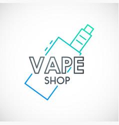 Electronic cigarette signline vape device icon vector