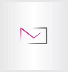 envelope icon logo symbol element vector image