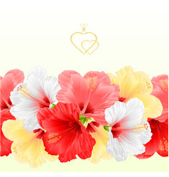 Floral border seamless background flowers vector