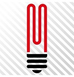 Fluorescent Bulb Icon vector image