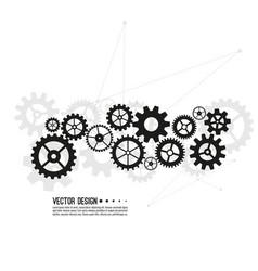 gear wheel and cogwheel mechanism vector image
