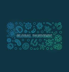 Global pandemic colorful linear horizontal vector