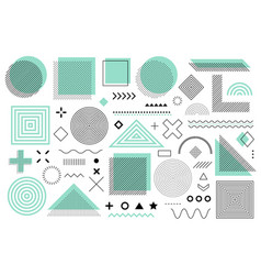 green memphis design retro elements for web vector image