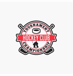 Hockey club badge logo-8 vector