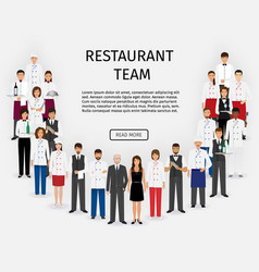 Hotel restaurant team group of catering service vector