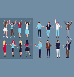icon of dancing people vector image