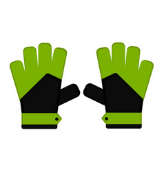 Isolated goalkeeper gloves icon vector