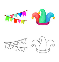 Isolated object party and birthday logo vector