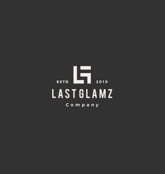 lg letter logo hipster vintage retro monogram vector image