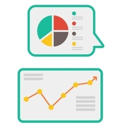 Linear and pie charts vector image
