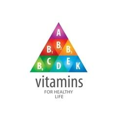 logo vitamins vector image