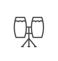 Musical instrument congas line icon vector