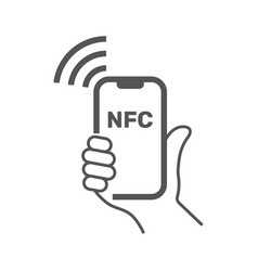nfc mobile payment nfc smart phone vector image