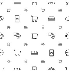 online icons pattern seamless white background vector image