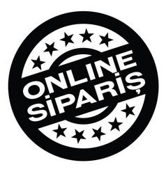 order online stamp in turkish vector image