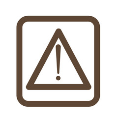 packaging sign warning delivery icon with white vector image