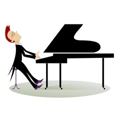 Pianist vector