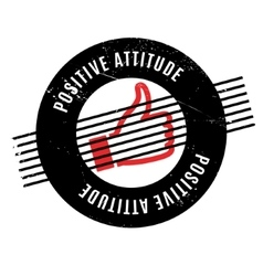 Positive Attitude rubber stamp vector