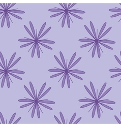Purple flower seamless pattern 1 vector image