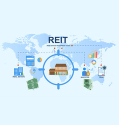 real estate investment trust concept vector image