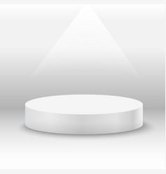 round white stage podium with light beam vector image