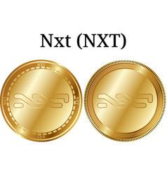 Set of physical golden coin nxt nxt vector