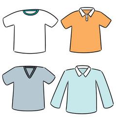 Set of t-shirt vector