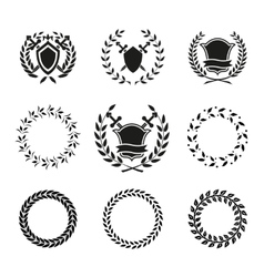 Shields and Wreaths Labels vector image