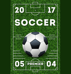 soccer poster template vector image