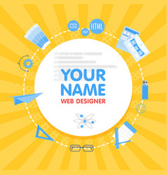 Social network web designer avatar place for your vector