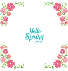 Spring Floral Decorating Frame vector image