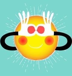 Summer sun vector