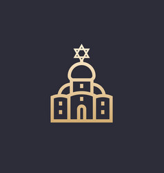 synagogue icon linear vector image