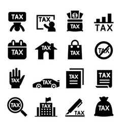 Tax icon set vector