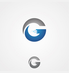 tech letter g vector image