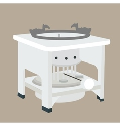 traditional kerosene stove cooking appliance old vector image