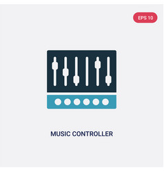Two color music controller icon from multimedia vector