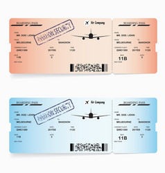 Two templates of boarding pass tickets vector