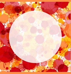 Vibrant red and orange watercolor paint drops vector