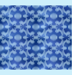 Vintage indigo shibori dyed textile seamless vector