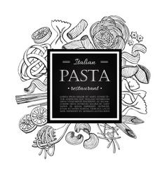 vintage italian pasta restaurant vector image